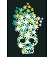 Skull of flowers vector image vector image