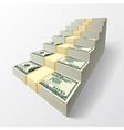 Stairway of dollars vector image vector image