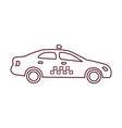 taxi simple icon vector image vector image