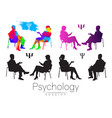 the psychologist and the client psychotherapy vector image