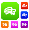three books with bookmarks set collection vector image vector image