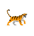 tiger logo sign emblem animal vector image vector image