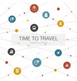 time to travel trendy web template with simple vector image vector image