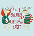 ugly sweather christmas party vector image