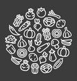 vegetables icons in a circular shape vector image vector image