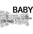 what if a baby cries text word cloud concept vector image vector image