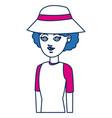 woman character traveler people cartoon vector image