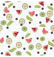 detox water of fresh fruit seamless pattern vector image