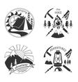 Set of vintage adventure labels vector image