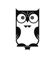 Owl Black Silhouette vector image