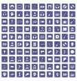 100 audience icons set grunge sapphire vector image vector image