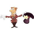 a magician gnome cartoon vector image vector image