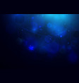 abstract bokeh hexagonal on dark blue background vector image
