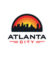 atlanta city logo design vector image vector image