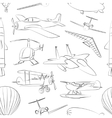 Aviation Icons Set pattern vector image vector image