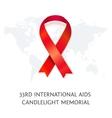 awareness red ribbon symbol aids vector image