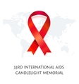 Awareness red ribbon symbol of AIDS vector image vector image