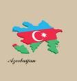 azerbaijan country - azerbaijan flag vector image