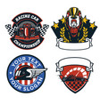 badge design set of formula car race vector image vector image