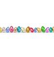 banner easter eggs vector image