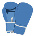 Blue boxing gloves vector image