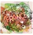 Cartoon hand drawn Doodle France vector image vector image