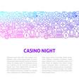 casino night line design template vector image vector image