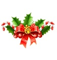 christmas decoration of red vector image vector image