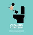 Cleaning a Toilet Bowl vector image vector image