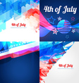 collection of american independence day background vector image vector image