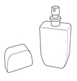 cologne spray bottle out line vector image vector image