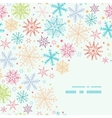 Colorful Doodle Snowflakes Corner Frame Seamless vector image vector image