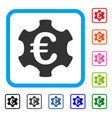 euro industry framed icon vector image vector image