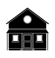 familiy house countryside pictogram vector image