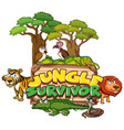 font design for word jungle survivor with animals
