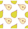 fruit pear seamless pattern vector image