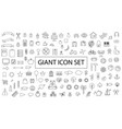 giant black outline planner icon set vector image
