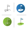 golf course icon vector image