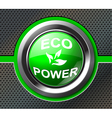 green power button vector image vector image