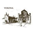 historical old building facade in verona a vector image vector image