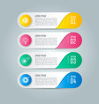 infographic design business concept vector image vector image