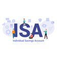 isa individual savings account concept with big vector image vector image