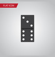 isolated domino flat icon bones game vector image