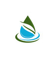 leaf water logo design template vector image vector image