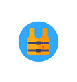 life jacket icon flat vector image vector image