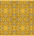 linocut rhombus tile seamless pattern vector image