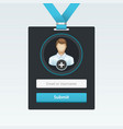login form in badge vector image vector image