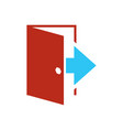 logout icon - exit sign - register logout botton vector image