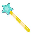 magic wand with star cartoon wizards stick vector image