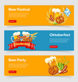 oktoberfest beer festival banners vector image